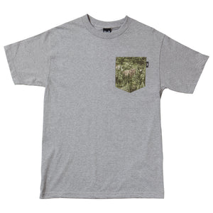 The Quiet Life Forest heather grey pocket T shirt