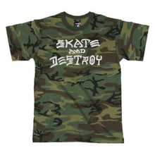 Load image into Gallery viewer, Thrasher Skate and Destroy Camo T Shirt