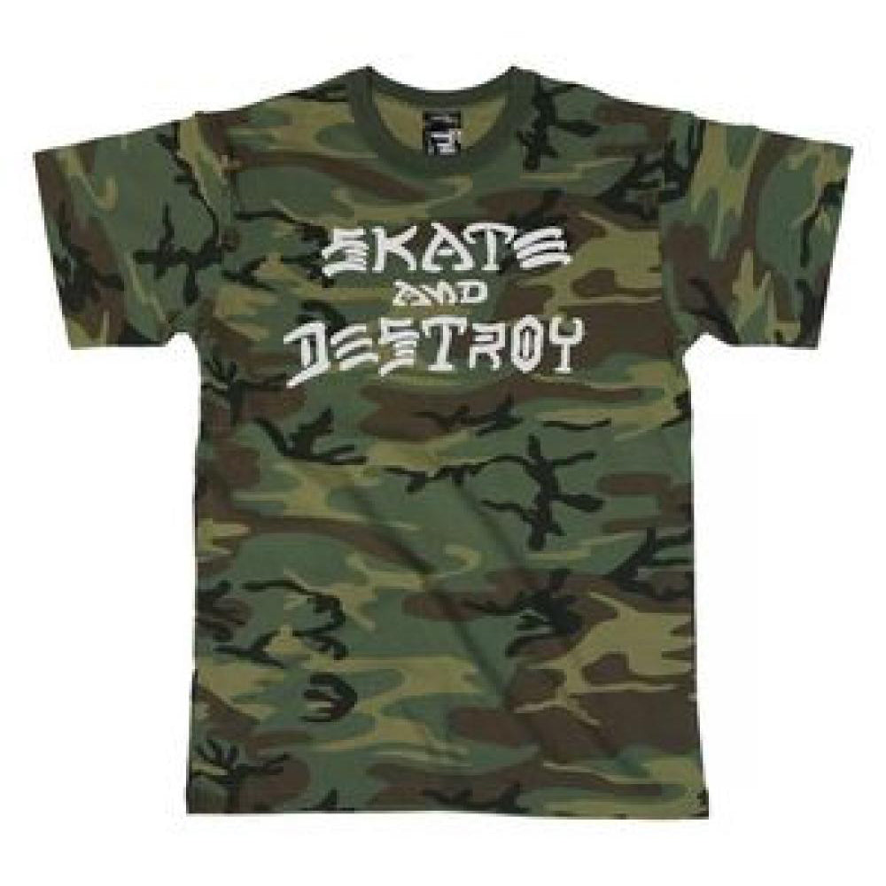 Thrasher Skate and Destroy Camo T Shirt