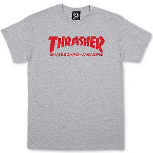 Thrasher Skate Mag T shirt grey/red
