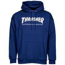 Load image into Gallery viewer, Thrasher Skate Mag hood navy