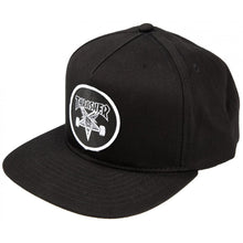 Load image into Gallery viewer, Thrasher Skategoat black snapback cap
