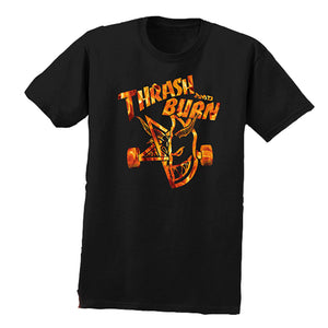 Spitfire x Thrasher Thrash & Burn black flame T shirt