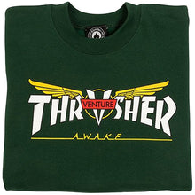 Load image into Gallery viewer, Thrasher x Venture Crewneck forest green