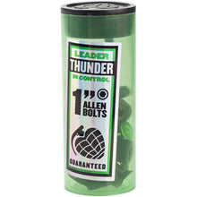 Load image into Gallery viewer, Thunder Black/Green allen bolts 1""