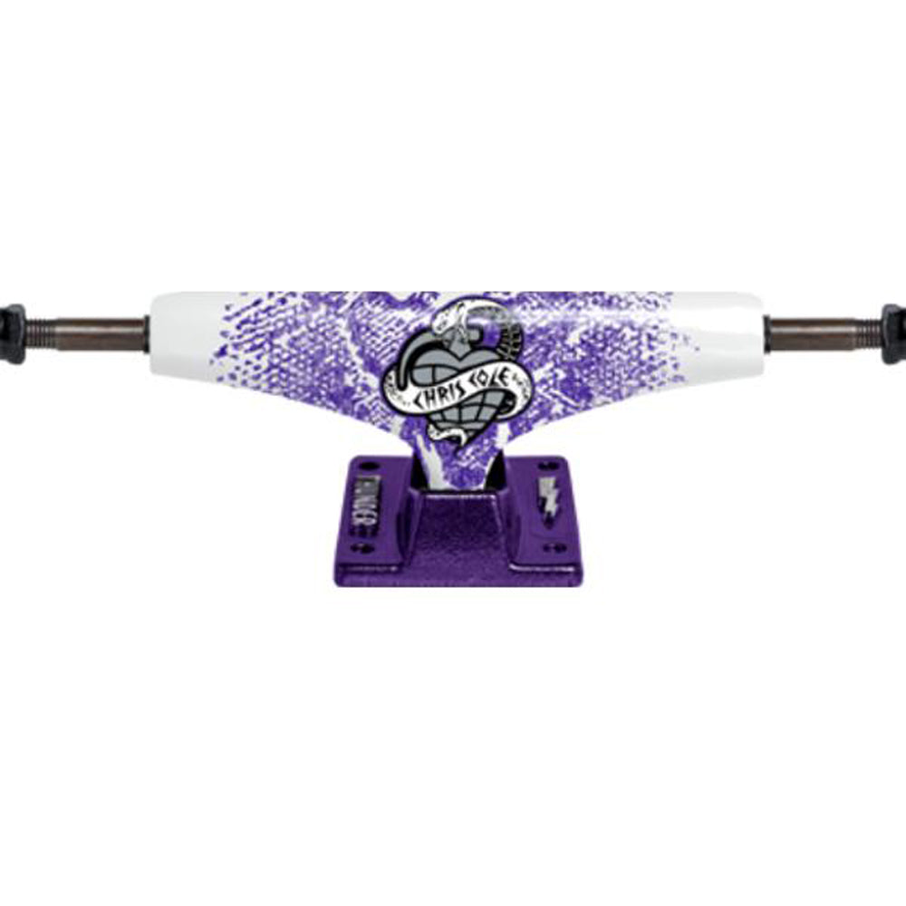 Thunder Cole Serpent white/purple 145 Low trucks