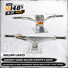 Load image into Gallery viewer, Thunder Hi 148 hollow lights polished team trucks 8.25""