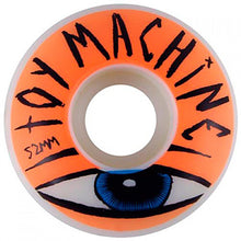 Load image into Gallery viewer, Toy Machine Sect Eye orange 52mm wheels