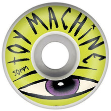 Load image into Gallery viewer, Toy Machine Sect Eye white/lime 50mm wheels