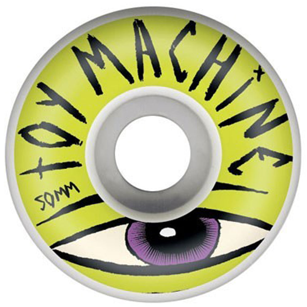 Toy Machine Sect Eye white/lime 50mm wheels