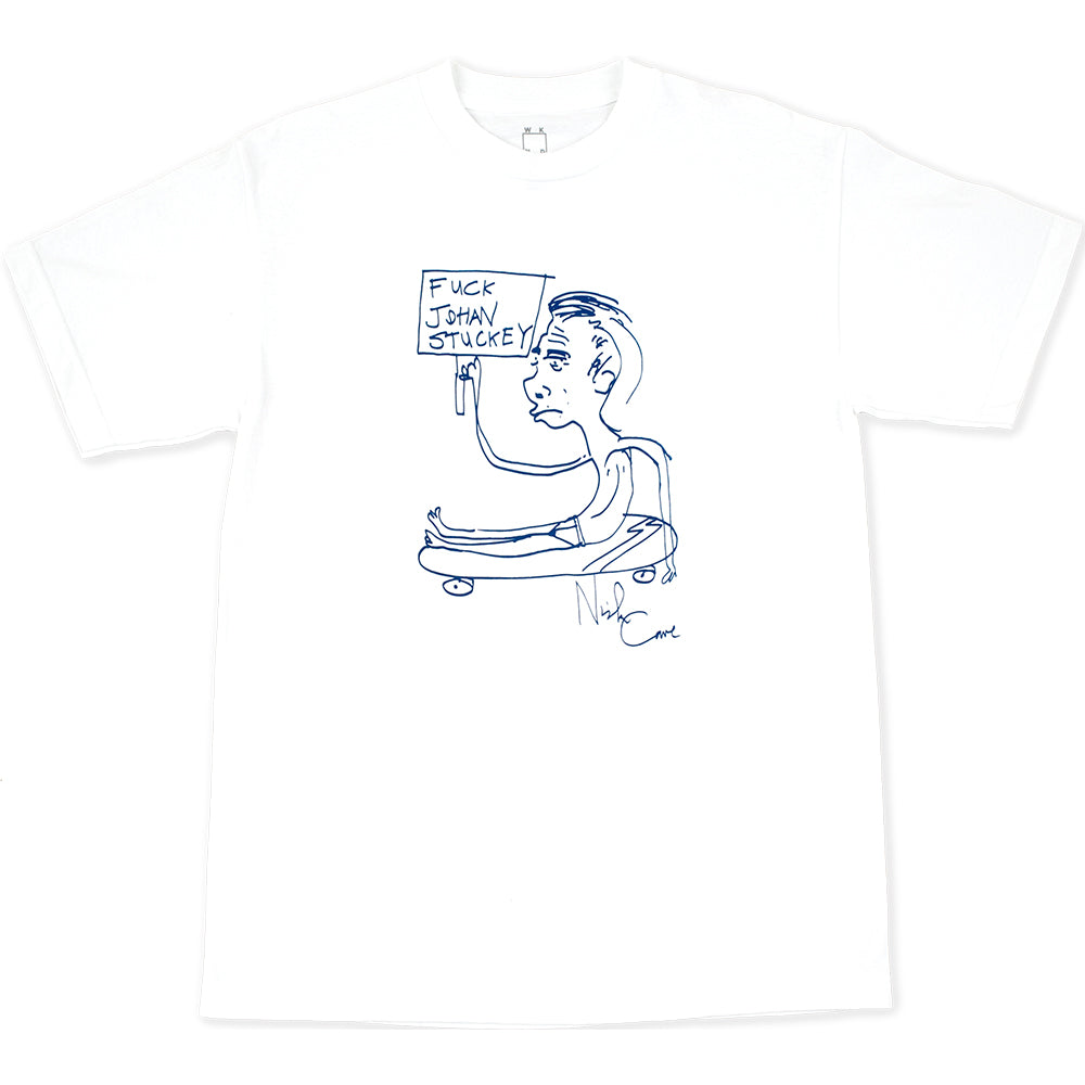 WKND Fuck Johan Stuckey Tee white