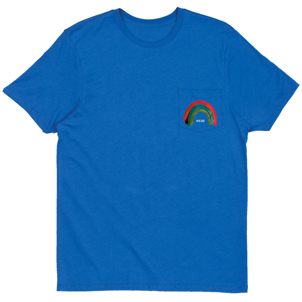 WKND Rainbow royal pocket T shirt