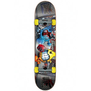 "World Industries Lights Out Flameboy mini size 7"" complete skateboard"