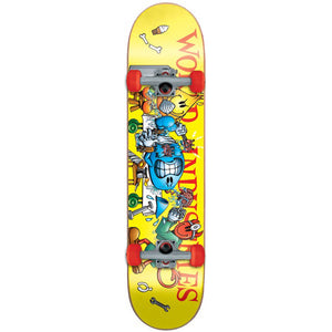 "World Industries Slice & Dice mini size 7"" complete skateboard"