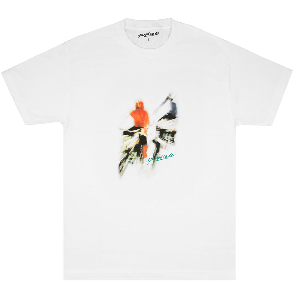 Yardsale Biker T shirt white