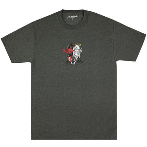 Yardsale Heaven & Hell T shirt charcoal heather