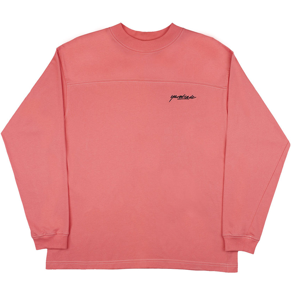 Yardsale Polo long sleeve T shirt pink