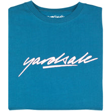 Load image into Gallery viewer, Yardsale Script T shirt cyan