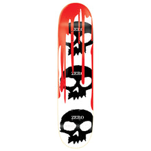 "Load image into Gallery viewer, Zero 3 Skull With Blood white 8.125"" deck"