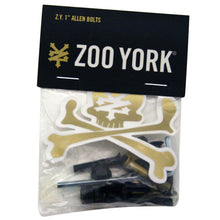 "Load image into Gallery viewer, Zoo York Gold 1"" allen bolts"