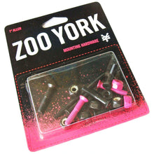 "Load image into Gallery viewer, Zoo York Pink 7/8"" allen bolts"