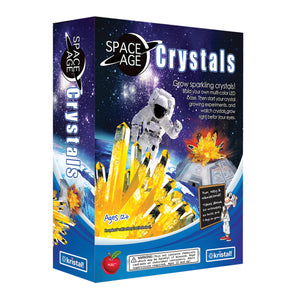 "Space Age Crystals® - Item 785: Grows ""Citrine"" on multi-colour LED base"