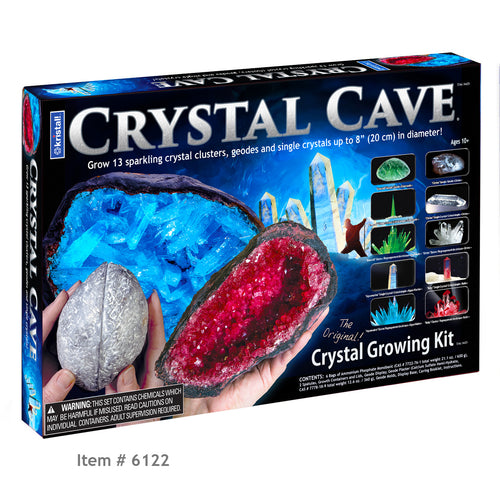 CRYSTAL CAVE ™ - Item 6122: Grow 13 sparkling Crystal Geodes, Clusters and Single Crystals