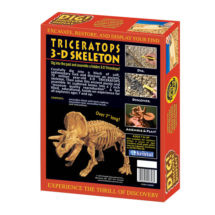 DIG! & DISCOVER™: 3D Triceratops