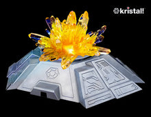 "Load image into Gallery viewer, Space Age Crystals® - Item 785: Grows ""Citrine"" on multi-colour LED base"
