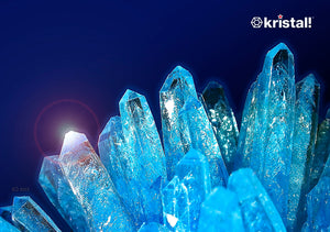"Space Age Crystals® - Item 504: Grow 4 Crystals ""Aquamarine"", ""Diamond"", ""Azurite"""