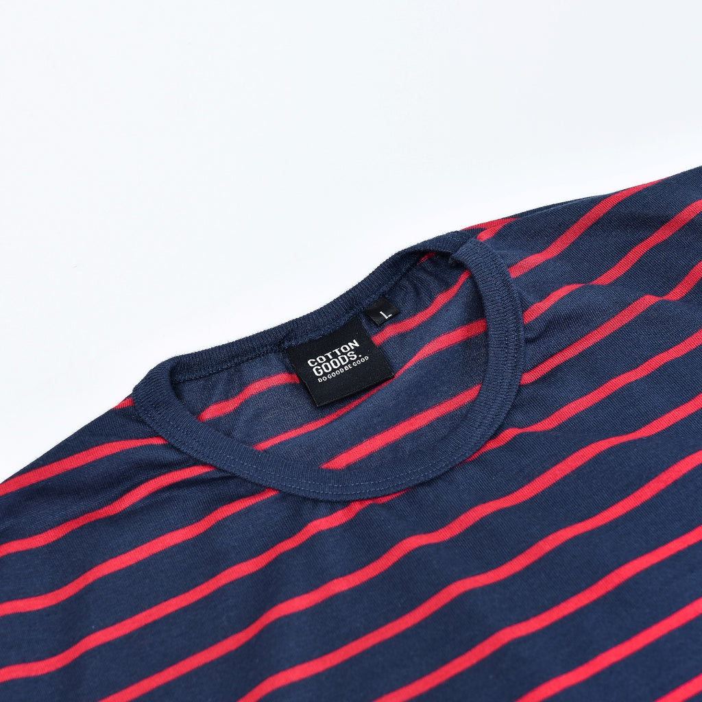 LAIS NAVY RED STRIPED TEES