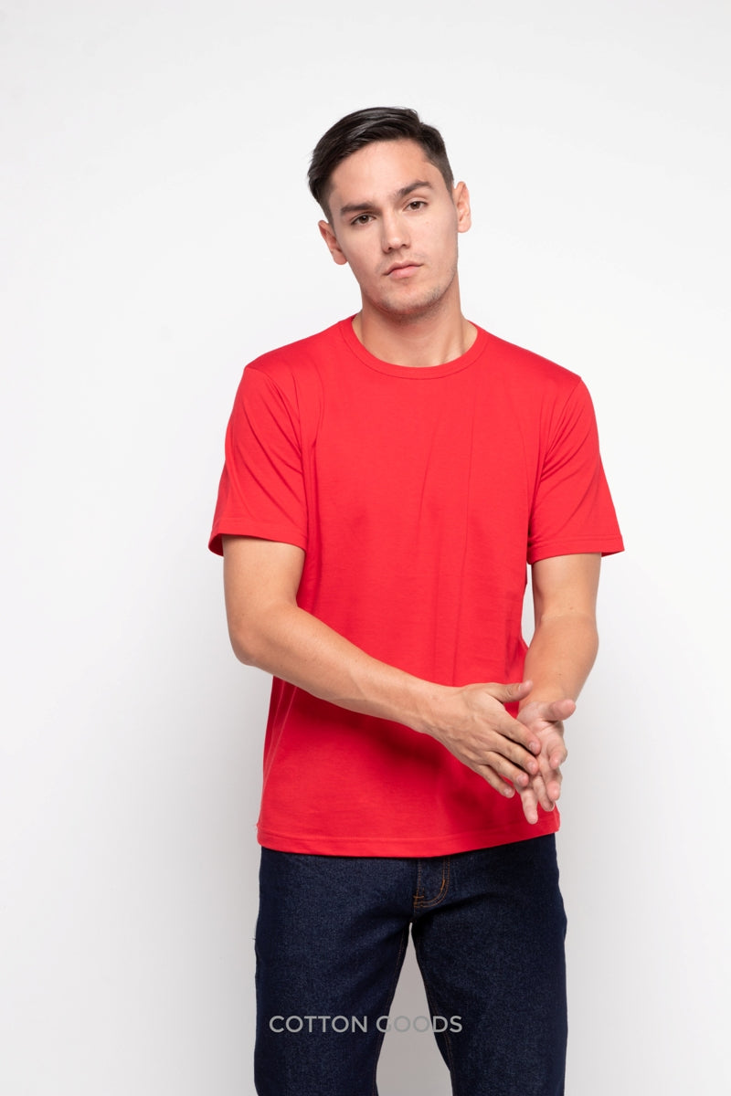 BLOOM TRUE RED BASIC TEES