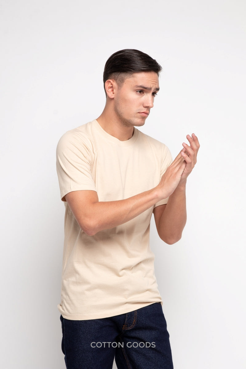 SCHOMER CREAM BASIC TEES