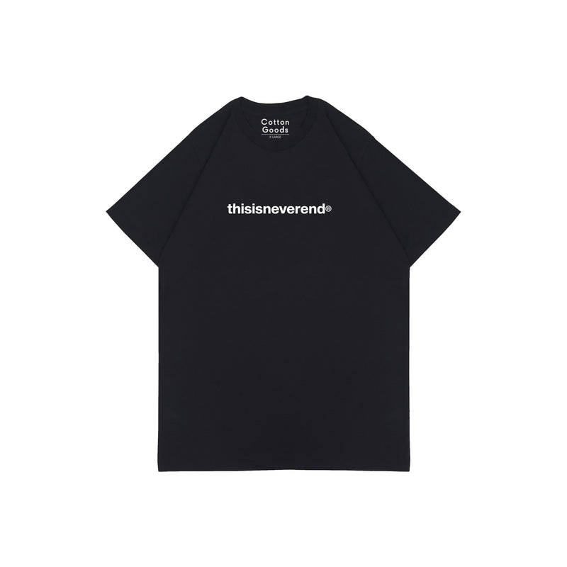 THISISNEVEREND BLACK GRAPHIC TEES