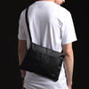 CROWAN BLACK POUCH SLING BAG