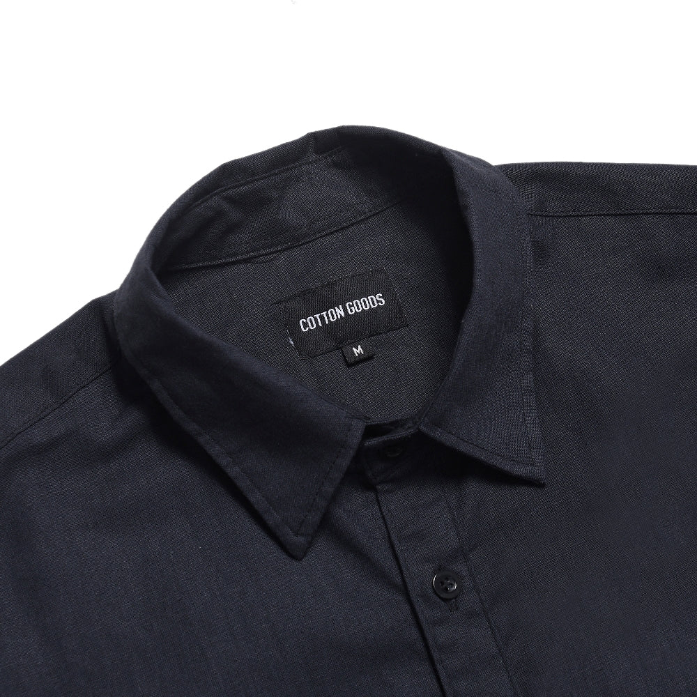 FULLPORT NAVY SHORTSLEEVE ROYAL OXFORD SHIRT