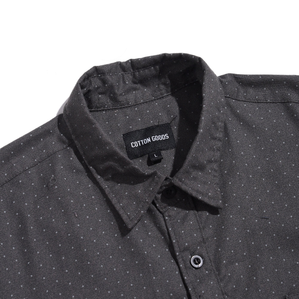 WINSTON GREY PATTERN SHORTSLEEVE FLANNEL SHIRT
