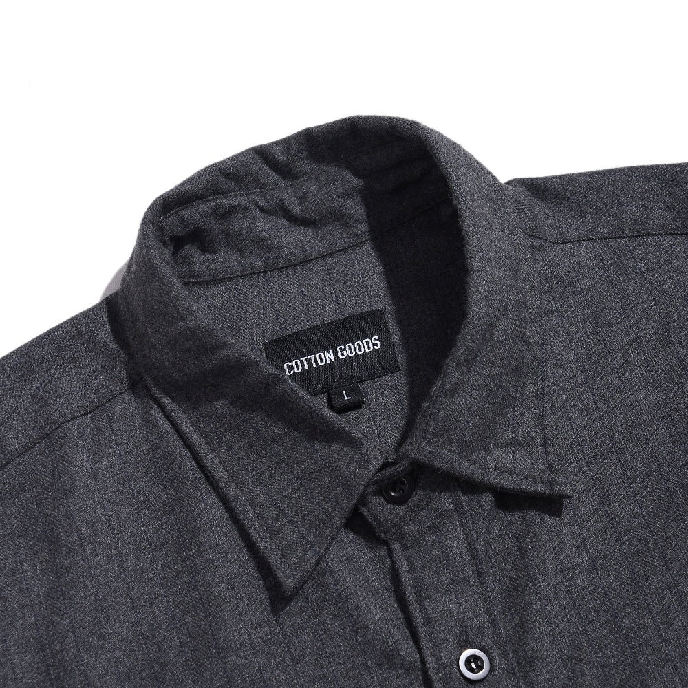YALE GREY SHORTSLEEVE FLANNEL SHIRT