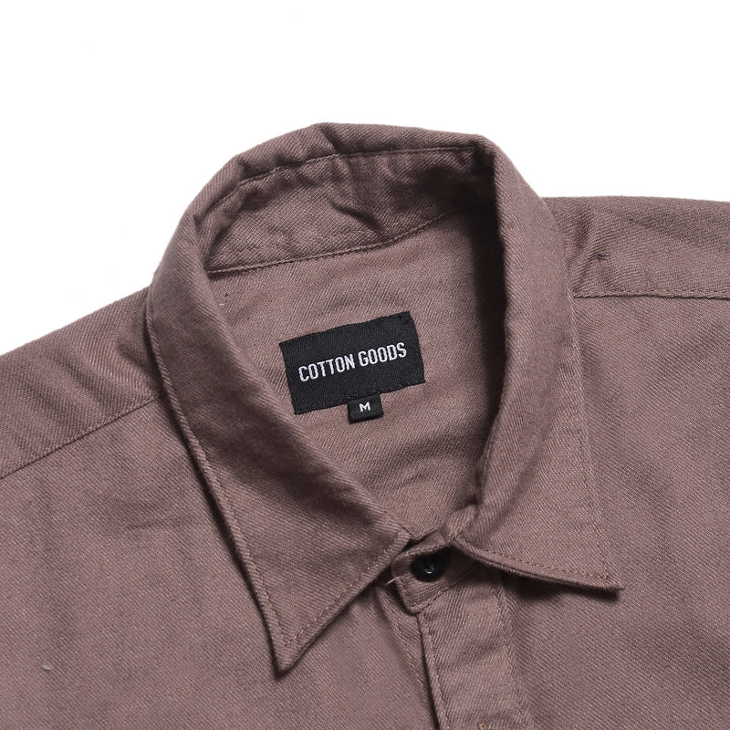 WEILAND BROWN SHORTSLEEVE ROYAL OXFORD SHIRT