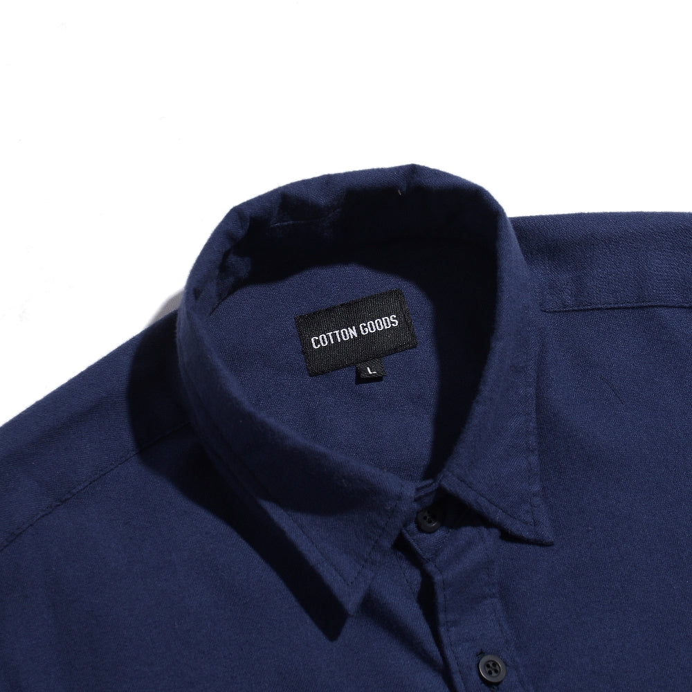 SQUIRE NAVY SHORTSLEEVE FLANNEL SHIRT