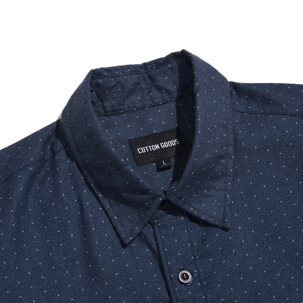 WESTLEY NAVY PATTERN SHORTSLEEVE FLANNEL SHIRT
