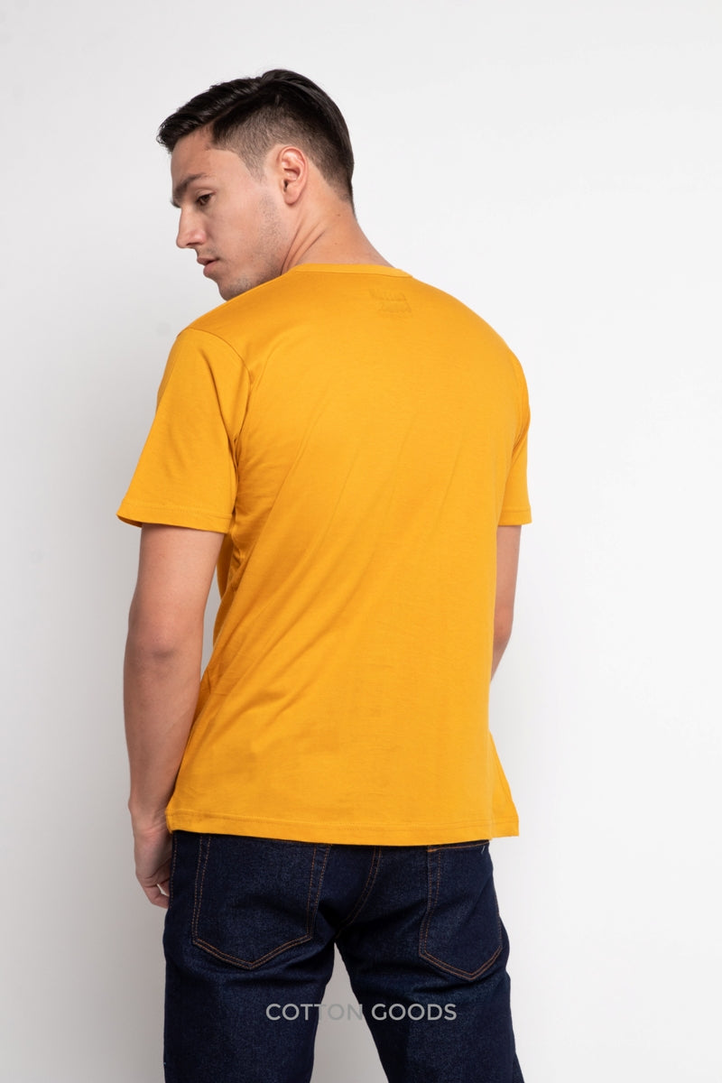 NUSTY BUTTERSCOTCH YELLOW BASIC TEES