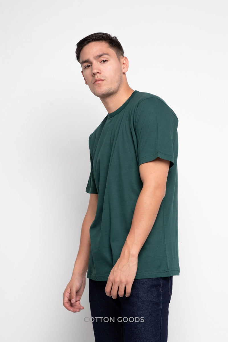 MEIRON PINENEEDLE GREEN BASIC TEES