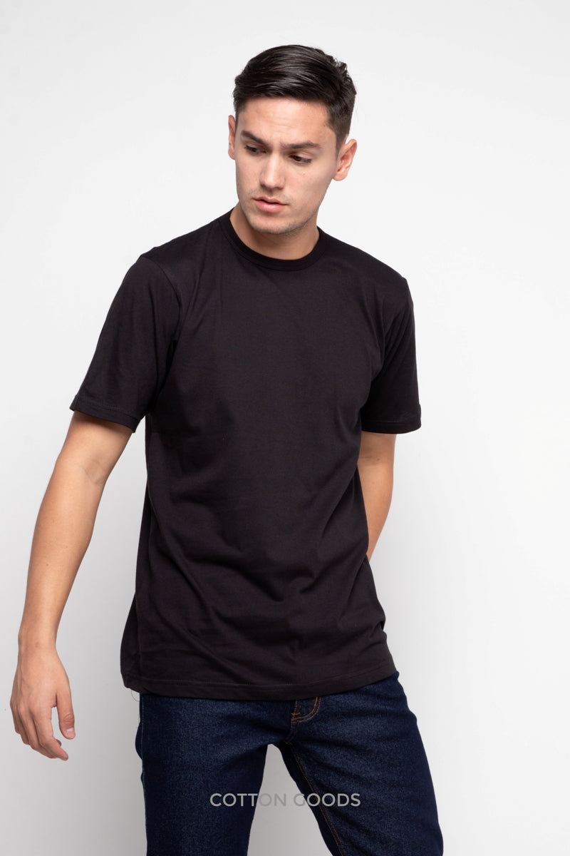 MAXIN BLACK BASIC TEES