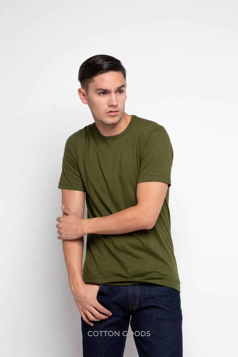 ADELIO MILITARY OLIVE BASIC TEES