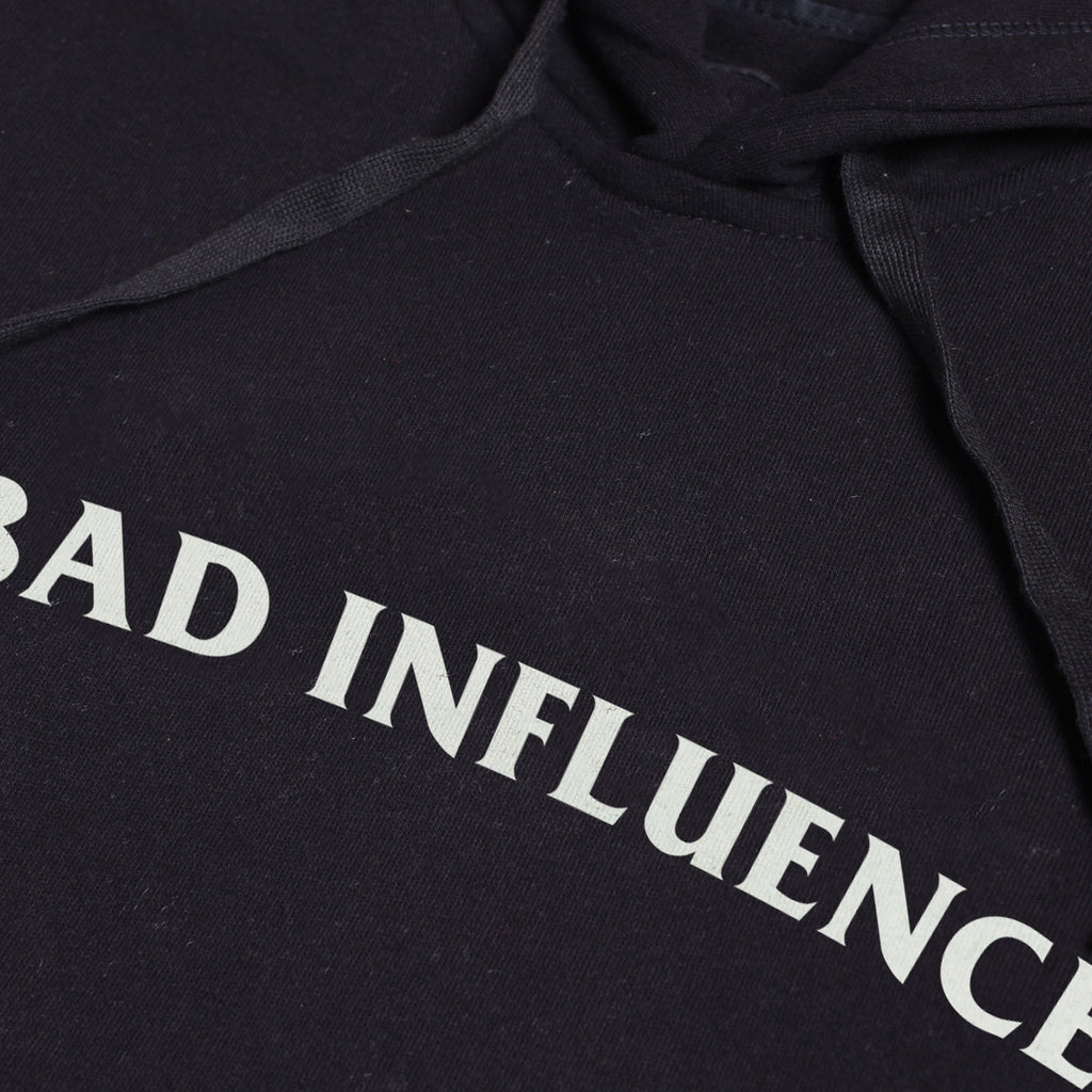 BAD INFLUENCE BLACK GRAPHIC PULLOVER HOODIE