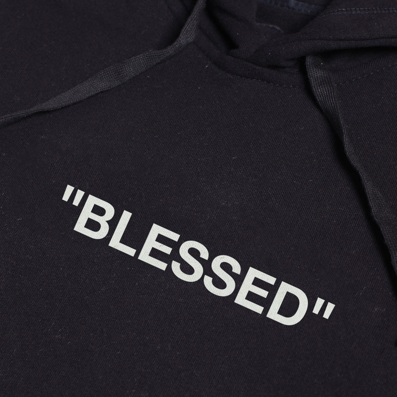 BLESSED BLACK GRAPHIC PULLOVER HOODIE