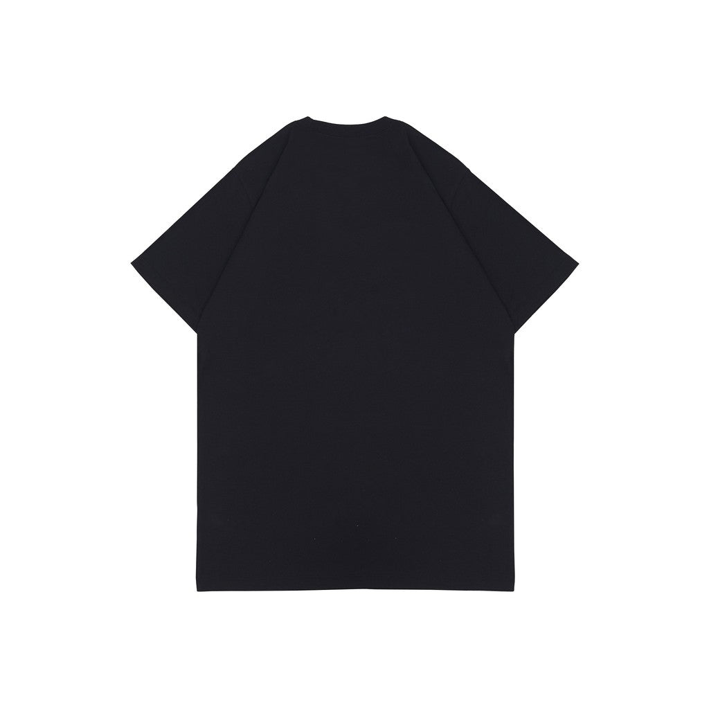 BORN LUCKY BLACK HW GRAPHIC OVERSIZED TEES