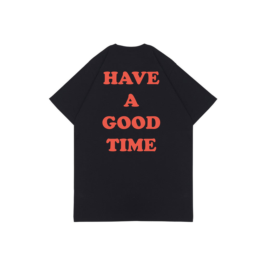 HAVE A GOOD TIME BLACK HW GRAPHIC OVERSIZED TEES