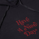 HAVE A NICE DAY BLACK GRAPHIC FULLOVER OVERSIZED HOODIE